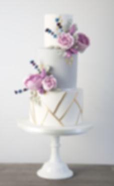 Wedding cake, Vintage wedding cake, Tiered wedding cake, white ruffles, roses,sugar flowers, gold, lustre, mould, pink,  geometric, lavendar, peony