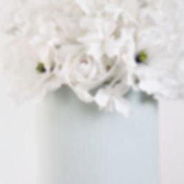 Sugar flowers, wedding cake, roses, hydrangeas, cosmos