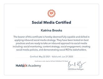 hubspot academy social media marketing c