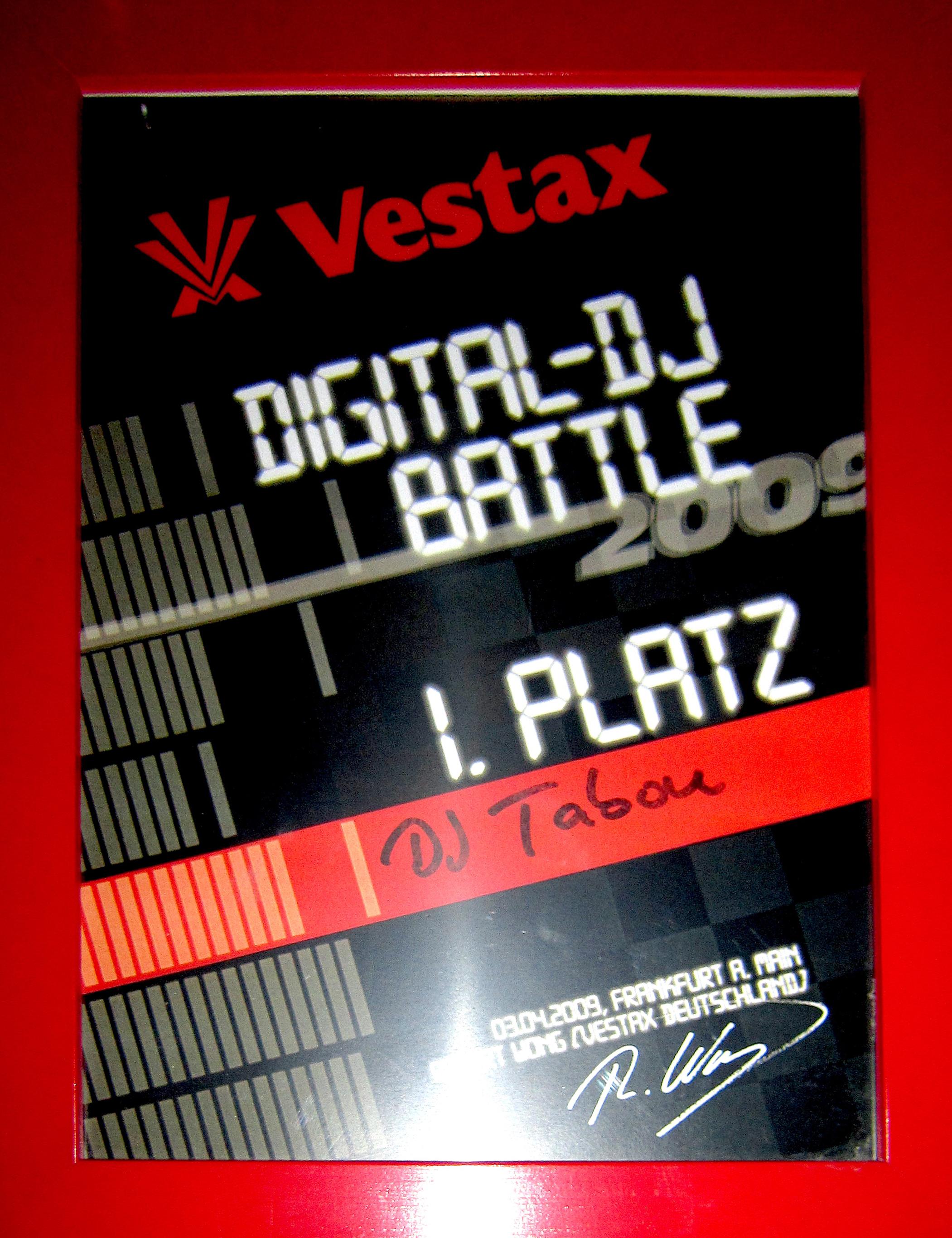 Vestax DJ Battle 1.Platz 2009.jpg