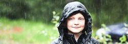 Portrait in the rain