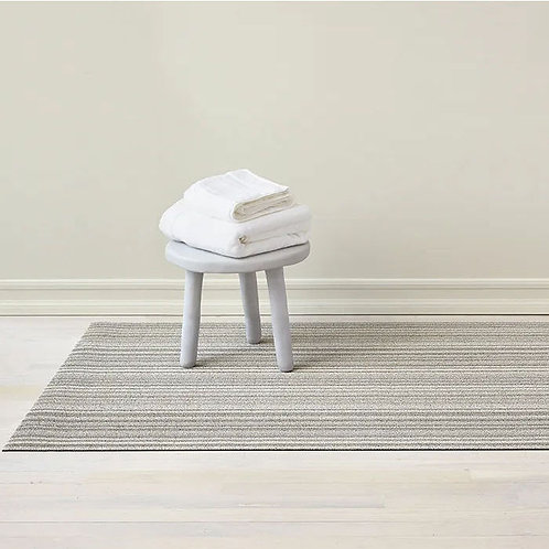 "Chilewich ""Skinny Stripe Shag"" Mat in Birch"