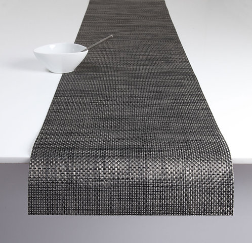 "Chilewich ""Basketweave"" Runner in Carbon"