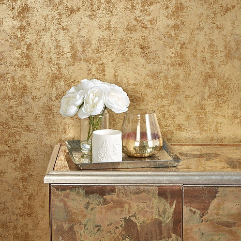 Tempaper Wallpaper - Distressed Leafing in Gold