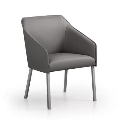 Sara II Arm Chair with Metal Legs
