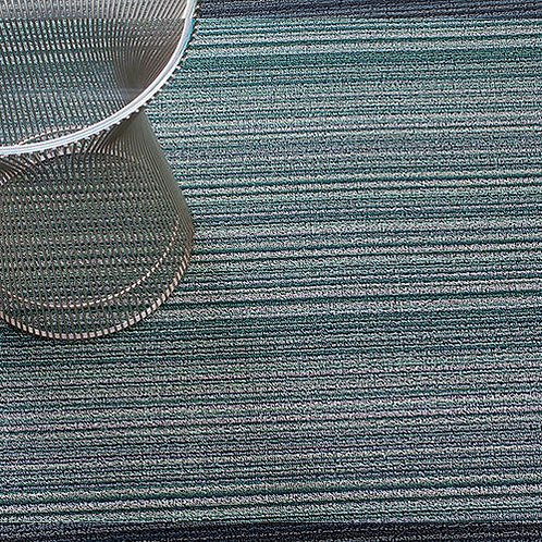 "Chilewich ""Skinny Stripe Shag"" Mat in Spearmint"