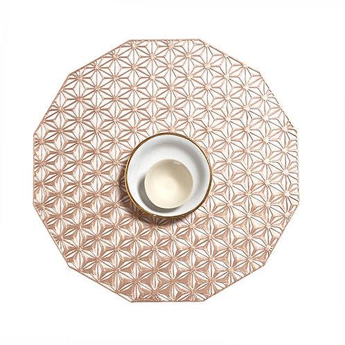 """Kaleidoscope"" Pattern Placemat - Pink Champagne"