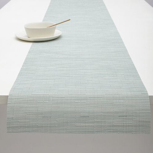 "Chilewich ""Bamboo"" Runner in Seaglass"