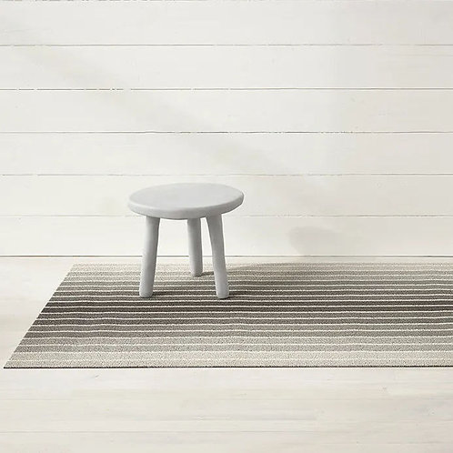"Chilewich ""Block Stripe Shag"" Mat in Taupe"