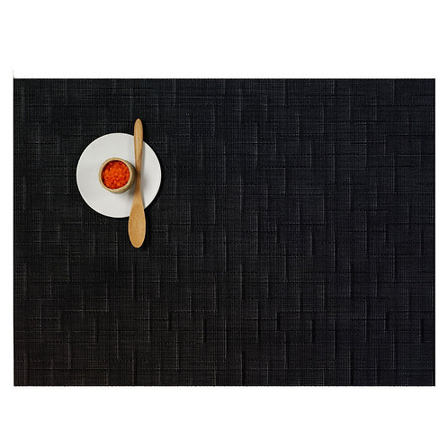 """Chilewich """"Bamboo"""" Placemat - Jet Black"""