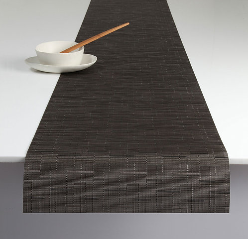 """Chilewich """"Bamboo"""" Runner in Chocolate"""