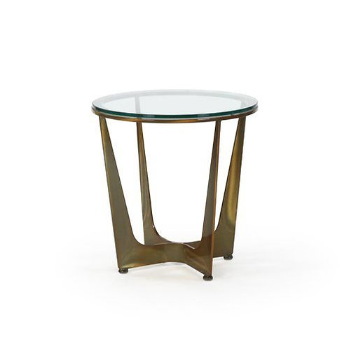 Connor Round Side Table - Glass Top