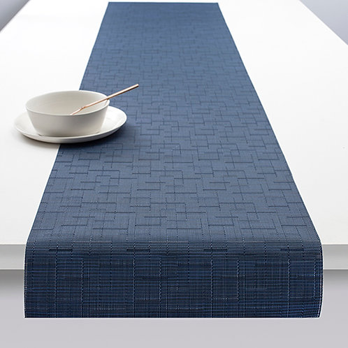 "Chilewich ""Bamboo"" Runner in Lapis"