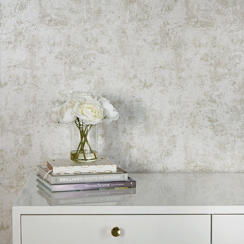 Tempaper Wallpaper - Distressed Leafing in Pearl