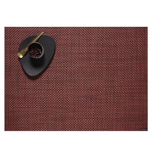 "Chilewich ""Basketweave"" Placemat in Pomegranate"