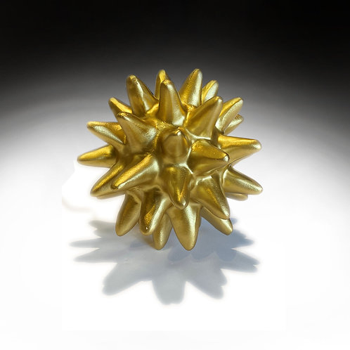 Resin Urchin Object - Gold