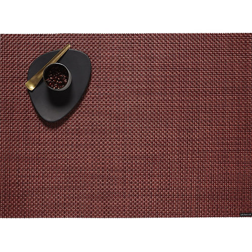 """Chilewich """"Basketweave"""" Placemat in Pomegranate"""