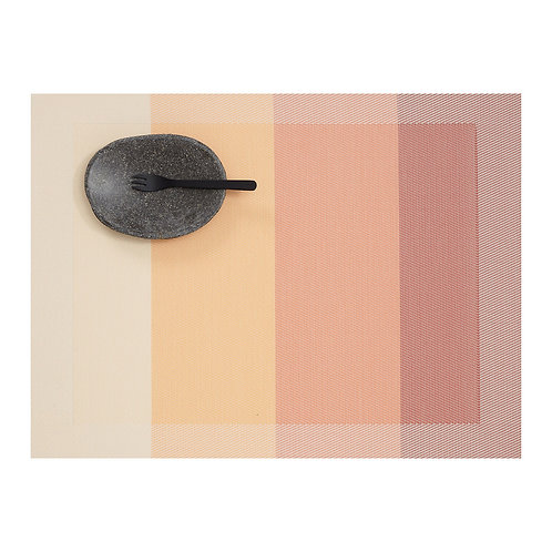 """Chilewich """"Color Tempo"""" Rectangular Placemat in Guava"""