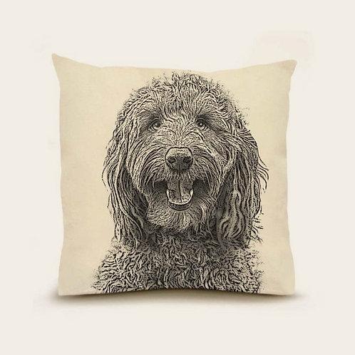 """Labordoodle"" Pillow"