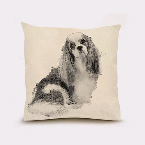 """King Charles Spaniel"" Pillow"