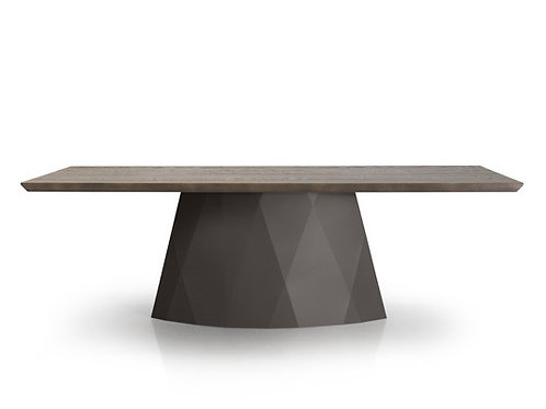 Diamond Dining Table - Rectangle with Wood Top