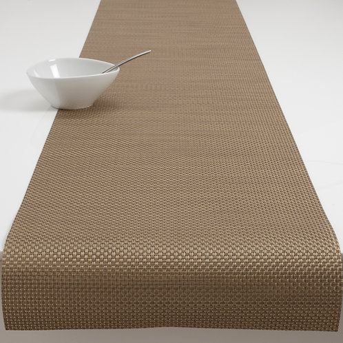 "Chilewich ""Basketweave"" Runner in New Gold"