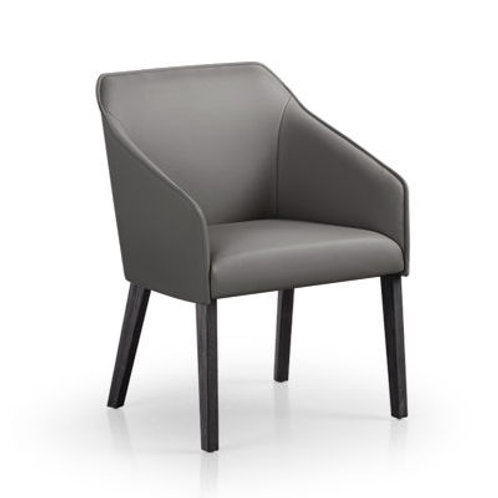 Sara II Arm Chair with Wood Legs