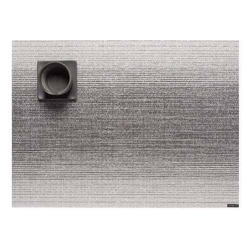 """Chilewich """"Ombre"""" Rectangular Placemat in Silver"""