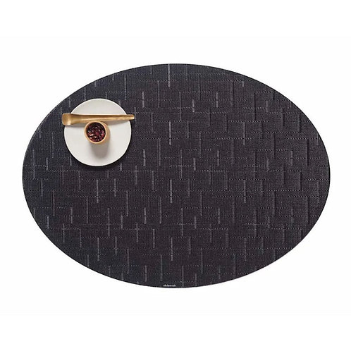 "Chilewich ""Bamboo"" Oval Placemat in Jet Black"