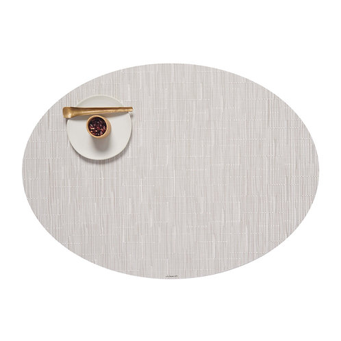 "Chilewich ""Bamboo"" Oval Placemat in Coconut"