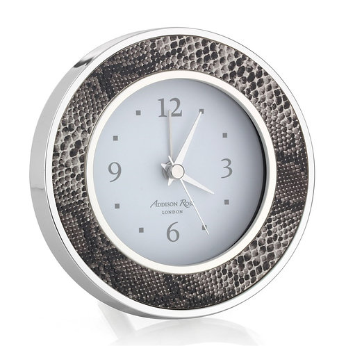 Natural Faux Snakeskin Alarm Clock