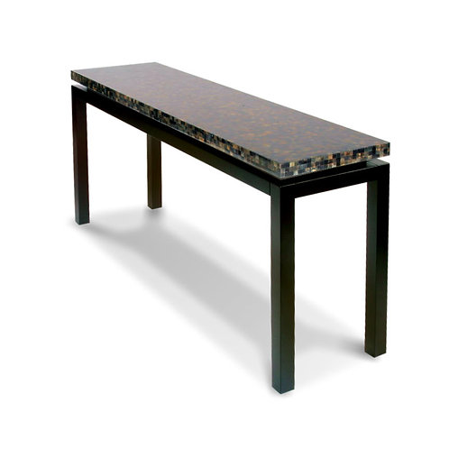 Nusa Console Table with Grey Penshell Top