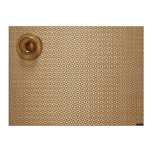 """Chilewich """"Origami"""" Rectangular Placemat - Honey"""