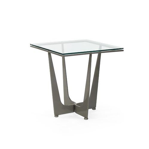 Connor Square Side Table - Glass Top