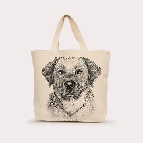 """Yellow Lab #2"" Tote"