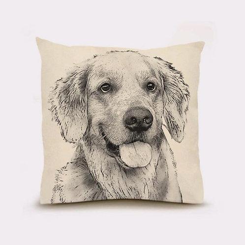 """""""Golden Retriever #2"""" Pillow"""