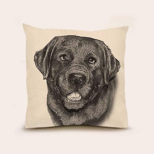 """Black Lab"" Pillow"