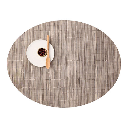 "Chilewich ""Bamboo"" Oval Placemat in Dune"