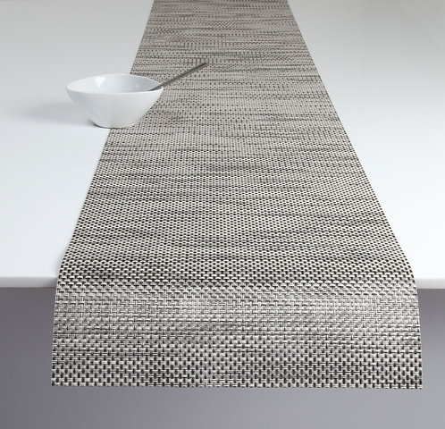 "Chilewich ""Basketweave"" Runner in Oyster"