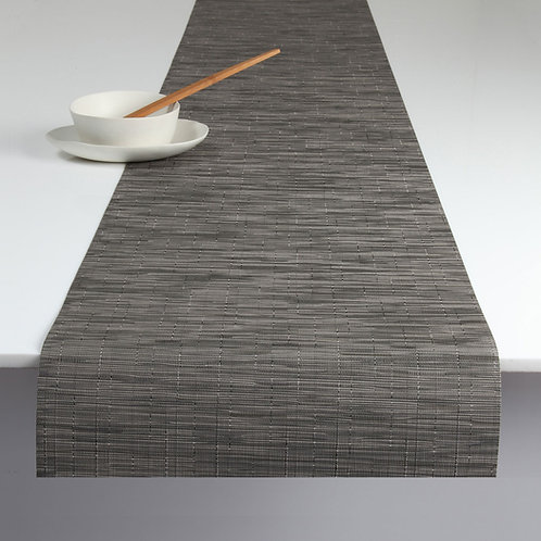 """Chilewich """"Bamboo"""" Runner in Grey Flannel"""