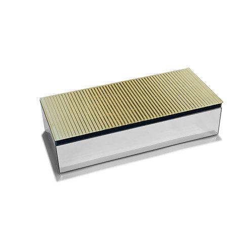 Golden Lines Glass Keepsake Box