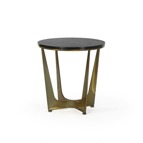 Connor Round Side Table - Wood Top