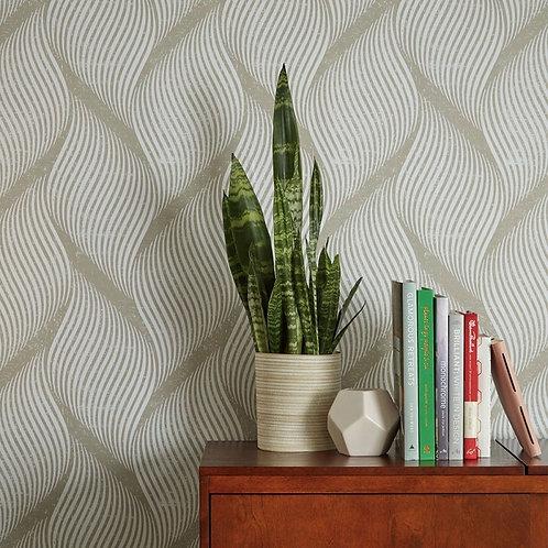 Tempaper Wallpaper - Wave in Almond