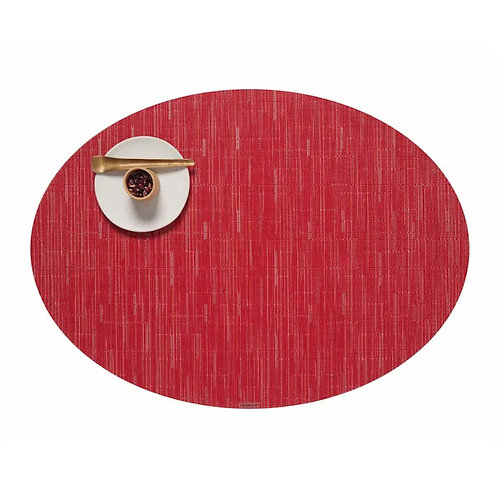 """Chilewich """"Bamboo"""" Oval Placemat in Poppy"""