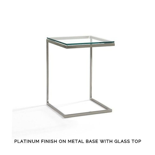 """Modulus """"C"""" Table - Wide with Glass Top"""