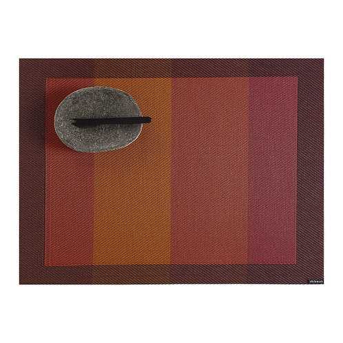 """Chilewich """"Color Tempo"""" Rectangular Placemat in Paprika"""