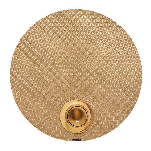 "Chilewich ""Origami"" Round Placemat - Honey"