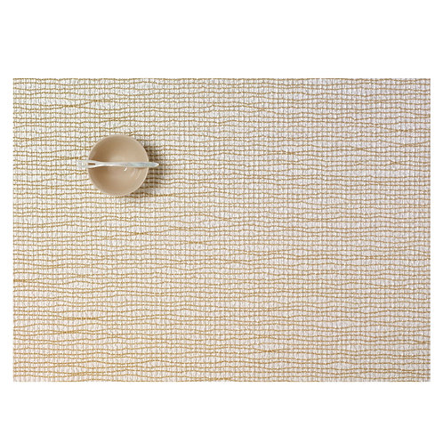 """Chilewich """"Lattice"""" Rectangular Placemat in Gold"""