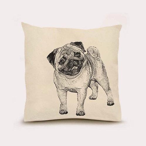 """Pug"" Pillow"