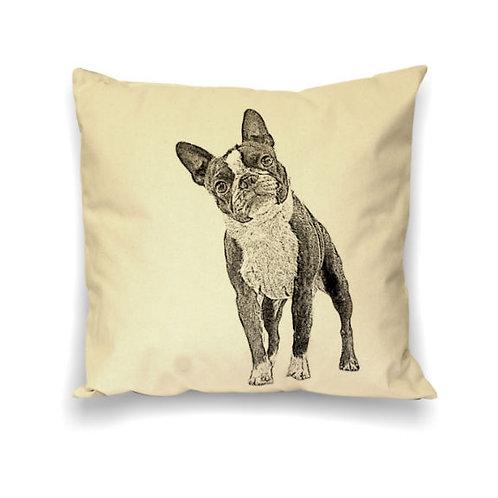 """Boston Terrier"" Pillow"